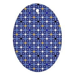 Persian Block Sky Ornament (oval)