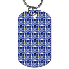 Persian Block Sky Dog Tag (two Sides)