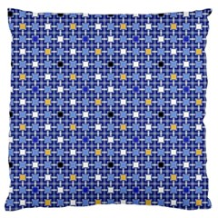 Persian Block Sky Large Flano Cushion Case (two Sides)