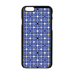 Persian Block Sky Apple Iphone 6/6s Black Enamel Case