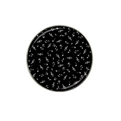 Music Tones Black Hat Clip Ball Marker (4 Pack)