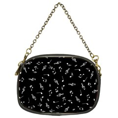 Music Tones Black Chain Purses (one Side)