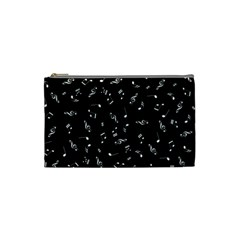 Music Tones Black Cosmetic Bag (small)