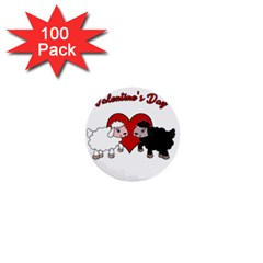 Valentines Day   Sheep  1  Mini Buttons (100 Pack)