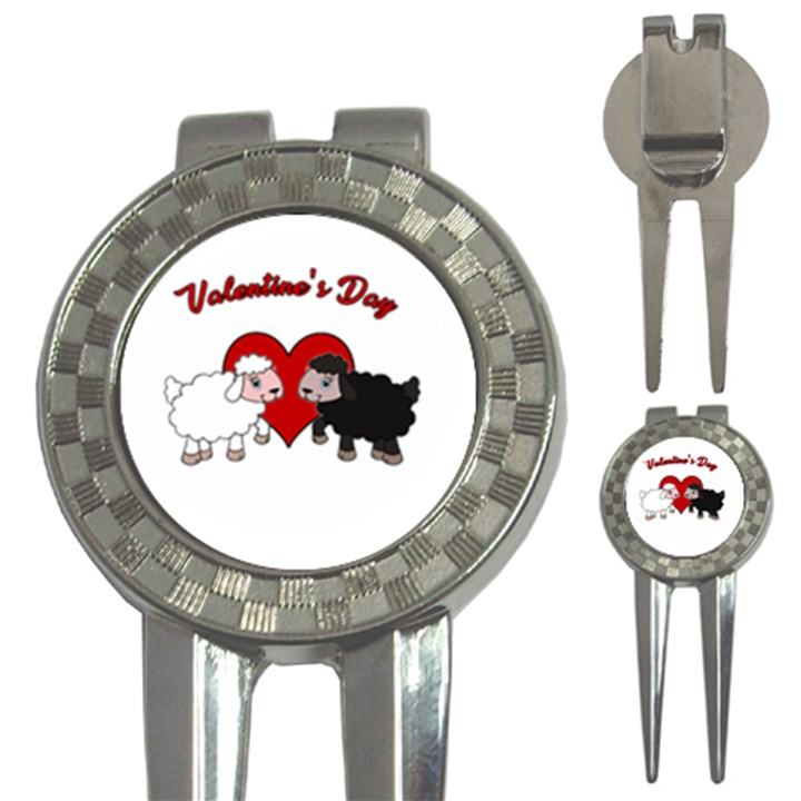 Valentines day - Sheep  3-in-1 Golf Divots