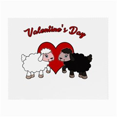 Valentines Day   Sheep  Small Glasses Cloth