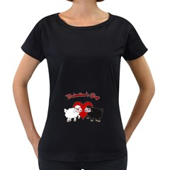 Valentines Day   Sheep  Women s Loose Fit T Shirt (black)