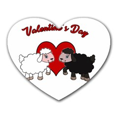 Valentines Day   Sheep  Heart Mousepads