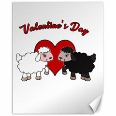 Valentines Day   Sheep  Canvas 11  X 14