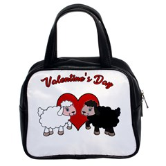 Valentines Day   Sheep  Classic Handbags (2 Sides)