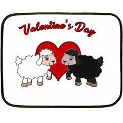 Valentines Day   Sheep  Double Sided Fleece Blanket (mini)