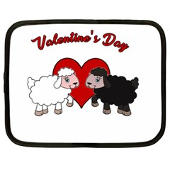 Valentines Day   Sheep  Netbook Case (xxl)