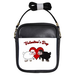 Valentines Day   Sheep  Girls Sling Bags