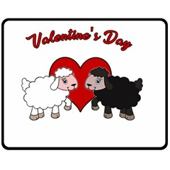 Valentines Day   Sheep  Fleece Blanket (medium)