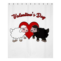 Valentines Day   Sheep  Shower Curtain 60  X 72  (medium)