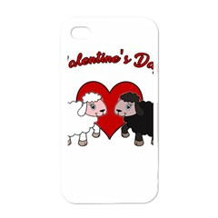 Valentines Day   Sheep  Apple Iphone 4 Case (white)