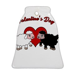 Valentines Day   Sheep  Bell Ornament (two Sides)