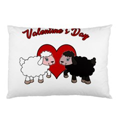 Valentines Day   Sheep  Pillow Case (two Sides)
