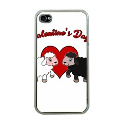 Valentines Day   Sheep  Apple Iphone 4 Case (clear)