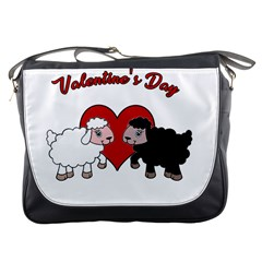 Valentines Day   Sheep  Messenger Bags