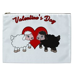 Valentines Day   Sheep  Cosmetic Bag (xxl)