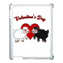 Valentines Day   Sheep  Apple Ipad 3/4 Case (white)