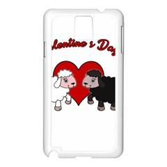 Valentines Day   Sheep  Samsung Galaxy Note 3 N9005 Case (white)