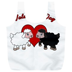 Valentines Day   Sheep  Full Print Recycle Bags (l)