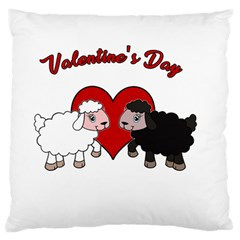 Valentines Day   Sheep  Standard Flano Cushion Case (two Sides)