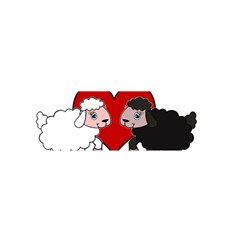 Valentines Day   Sheep  Satin Scarf (oblong)