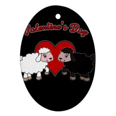Valentines Day   Sheep  Ornament (oval)