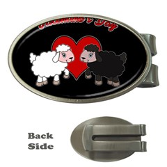 Valentines Day   Sheep  Money Clips (oval)