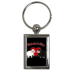 Valentines Day   Sheep  Key Chains (rectangle)