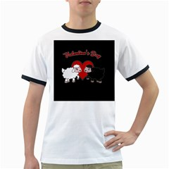 Valentines Day   Sheep  Ringer T Shirts