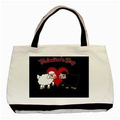 Valentines Day   Sheep  Basic Tote Bag