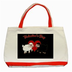 Valentines Day   Sheep  Classic Tote Bag (red)
