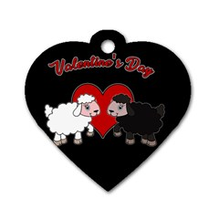 Valentines Day   Sheep  Dog Tag Heart (one Side)