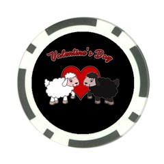 Valentines Day   Sheep  Poker Chip Card Guard