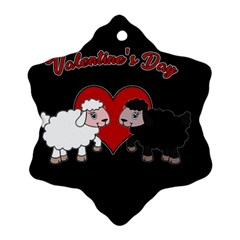 Valentines Day   Sheep  Snowflake Ornament (two Sides)