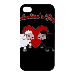 Valentines Day   Sheep  Apple Iphone 4/4s Hardshell Case