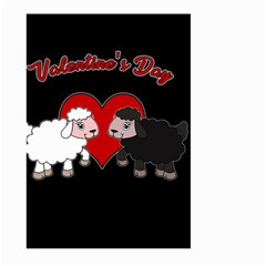 Valentines Day   Sheep  Large Garden Flag (two Sides)