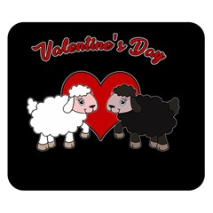 Valentines Day   Sheep  Double Sided Flano Blanket (small)