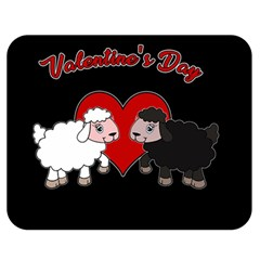 Valentines Day   Sheep  Double Sided Flano Blanket (medium)