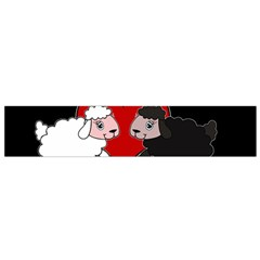 Valentines Day   Sheep  Small Flano Scarf