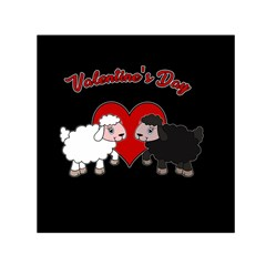 Valentines Day   Sheep  Small Satin Scarf (square)