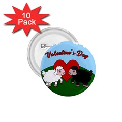 Valentines Day   Sheep  1 75  Buttons (10 Pack)