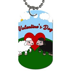 Valentines Day   Sheep  Dog Tag (one Side)