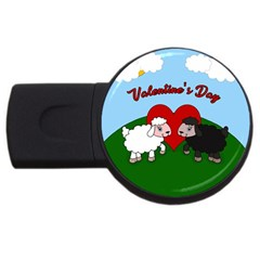 Valentines Day   Sheep  Usb Flash Drive Round (4 Gb)