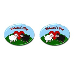 Valentines Day   Sheep  Cufflinks (oval)
