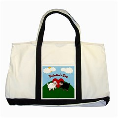 Valentines Day   Sheep  Two Tone Tote Bag